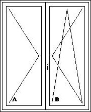 Balkónové dvere dvojdielne