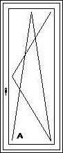 Balkónové dvere jednodielne