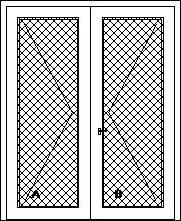 Vchodové dvere dvojkrídlové